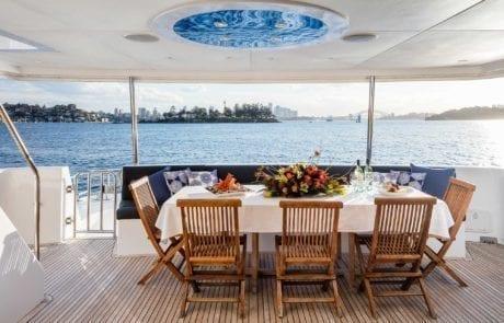 aqa charter boat sydney 17 460x295 - A.Q.A Sydney | Superyacht Charter | Luxury Cruise Boat