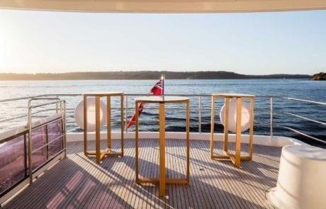aqa charter boat sydney 21 460x295 - A.Q.A Sydney | Superyacht Charter | Luxury Cruise Boat