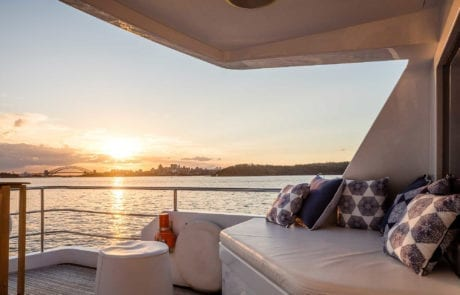 private yacht boat hire on sydney harbour 460x295 - A.Q.A Sydney | Superyacht Charter | Luxury Cruise Boat