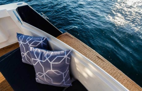 sota charter boat sydney 13 460x295 - State Of The Art - The Exclusive 65' motor yacht