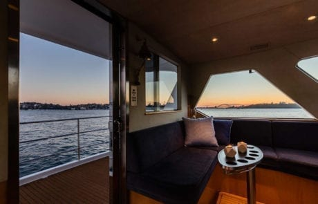 sota charter boat sydney 19 460x295 - State Of The Art - The Exclusive 65' motor yacht