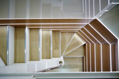 stairwell to the lower level 400x267 - Sydney's Finest Luxury Yacht Cruises
